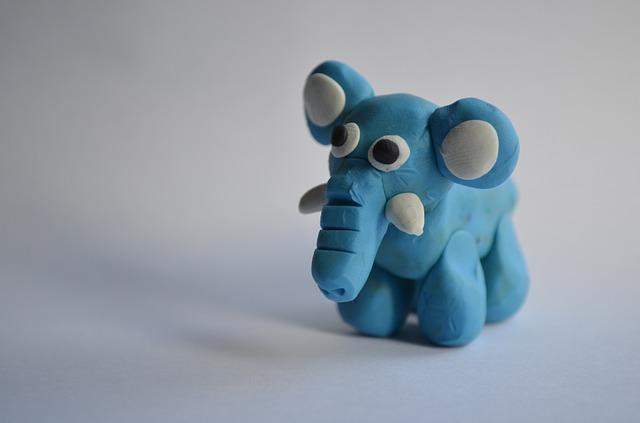 plastelinowy słonik