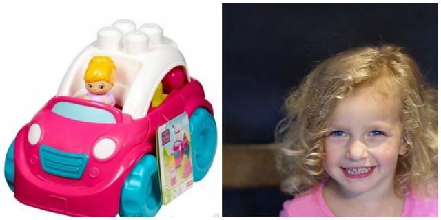 Dziewczynka i autko do zabawy