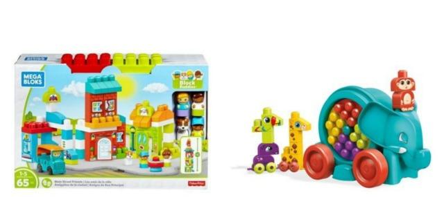 Spacerowy słonik i przygodowe miasteczko, zabawki